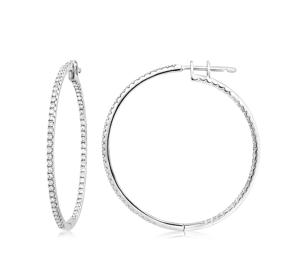 Alexis Diamond Hoops